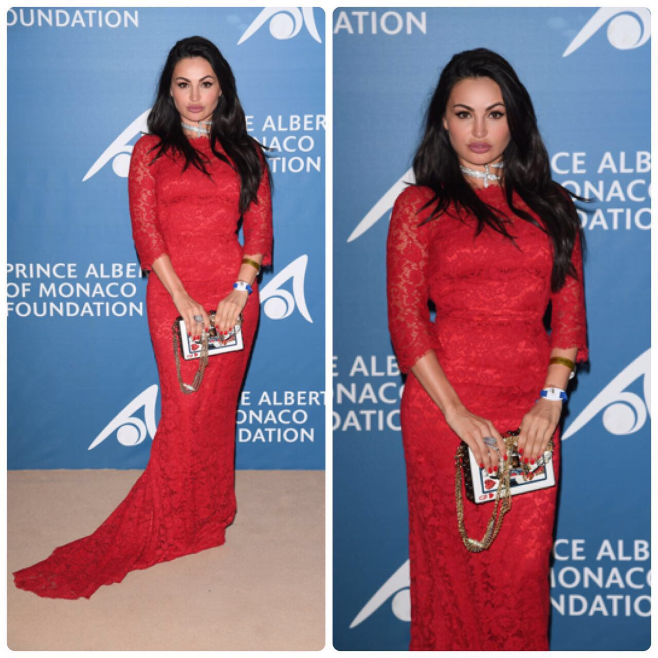 Emilia Kazandjian at the Charity Ball of Prince Albert II in Monaco.