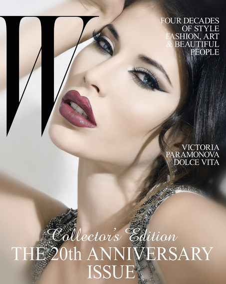 Top model Victoria Paramonova for W Magazine